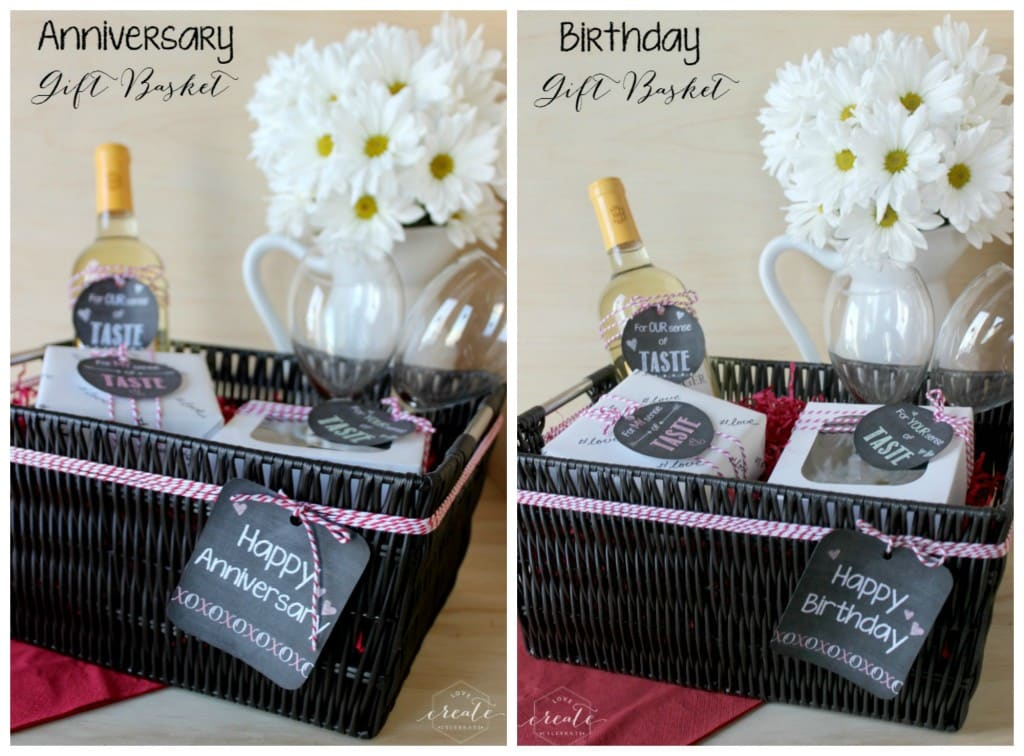 Gift tags for anniversary and birthday five senses gifts