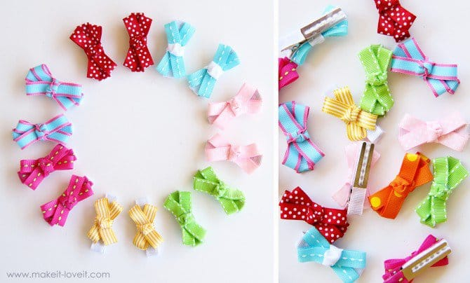 Do hair clips ever NOT look cute on baby girls? Try this easy tutorial for DIY baby hair clips