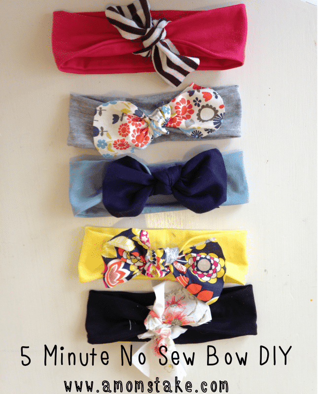 These DIY headbands are the perfect baby accessory, and it's a no sew tutorial!