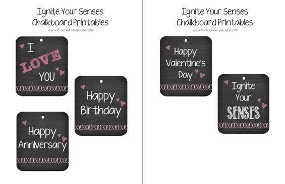 chalkboard printables for five senses gift