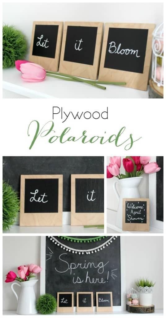 DIY Plywood Polaroids