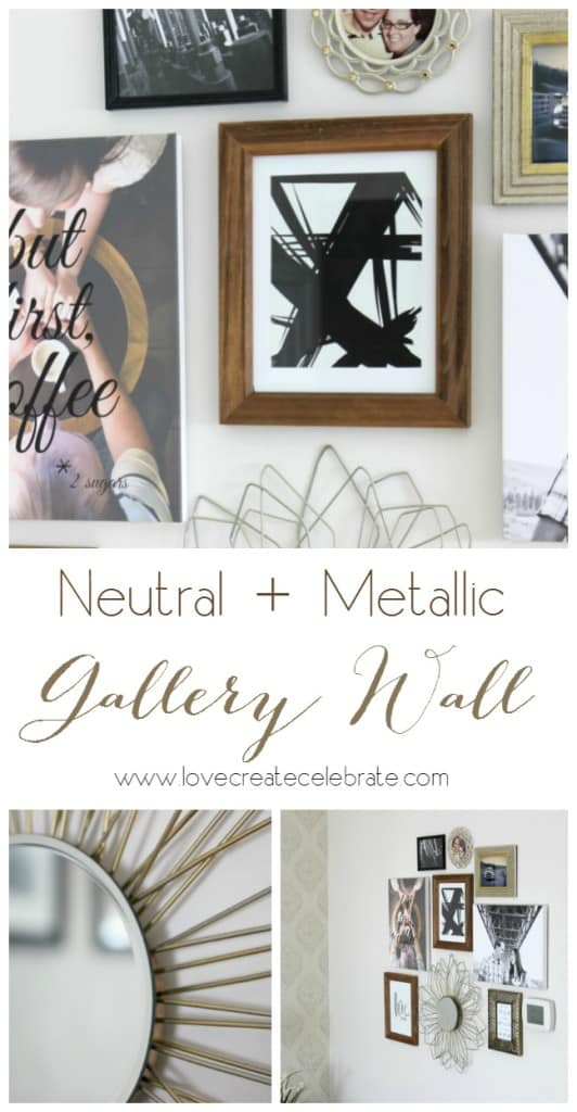 Neutral and Metallic Gallery Wall