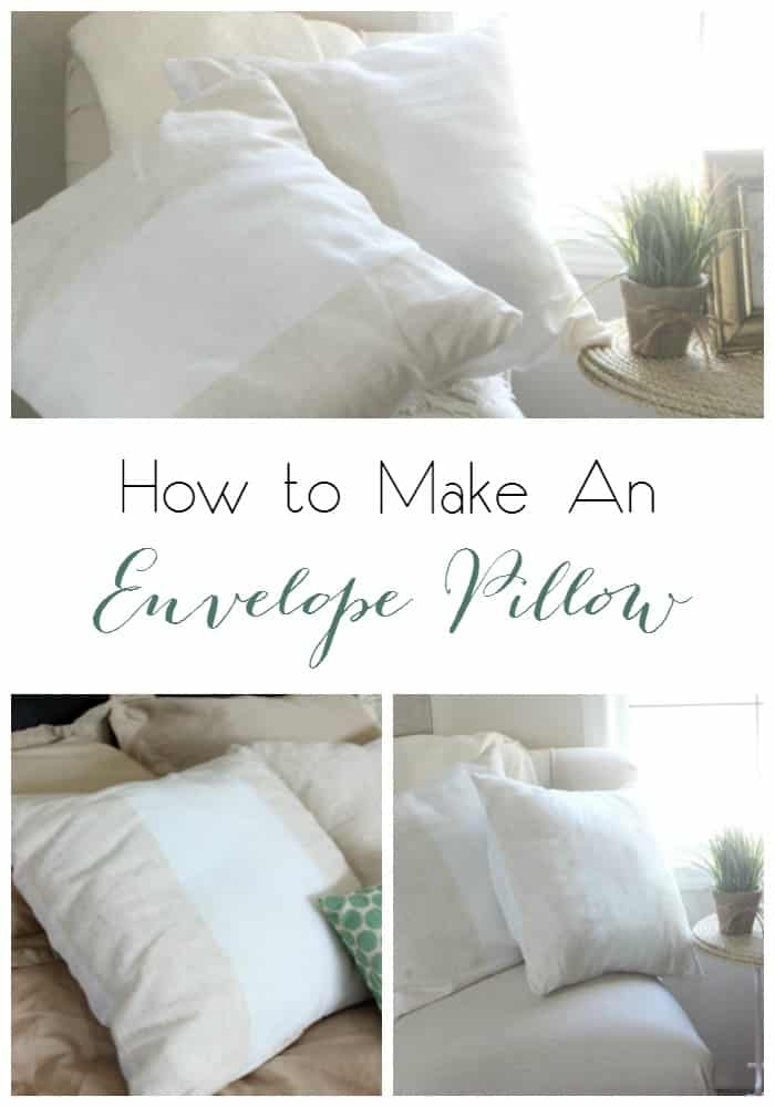 Great tutorial for making an envelope pillow in a few simple steps!