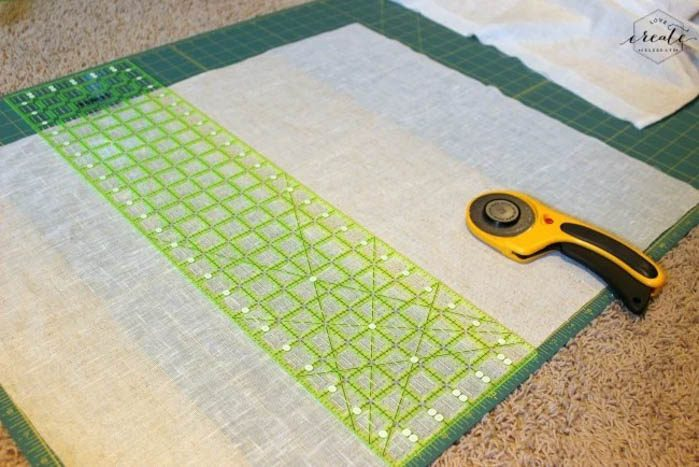 image of cutting mat for DIY pillow covers