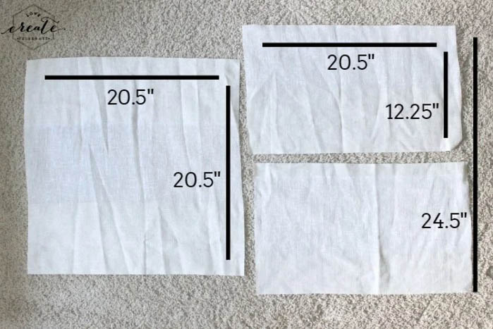pattern cut for DIY pillow covers