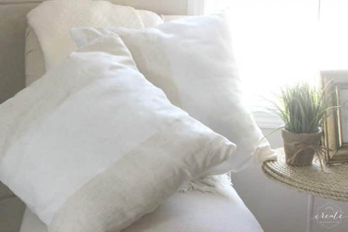 completed DIY pillow covers