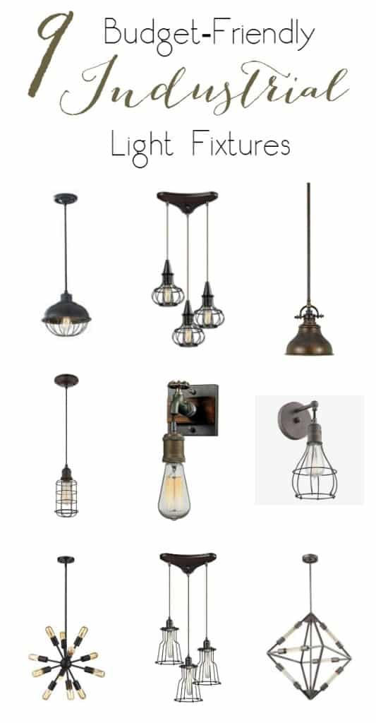 9 Budget Friendly industrial light fixtures