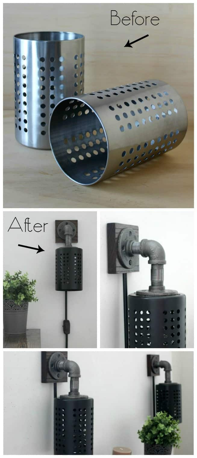 how to make your own wall light fixture