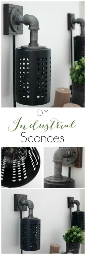 DIY Industrial Sconces - Make your own DIY Industrial Sconces with this great tutorial. We'll tell you everything you need to make a DIY wall sconce! Add character to your room with IKEA hack!