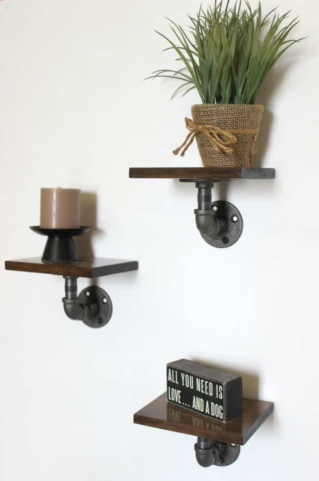 Simple Tutorial To Make This Industrial Display Shelves For Any Space In Your Home