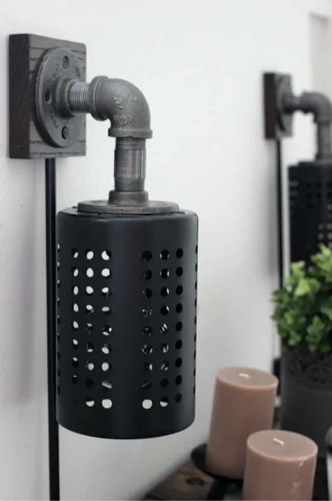How To Make Your Own Diy Industrial Sconces Love Create