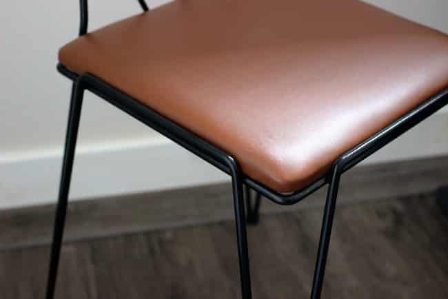 Simple steps to complete your first easy upholstery project. Love how this vintage leather chair turned out!