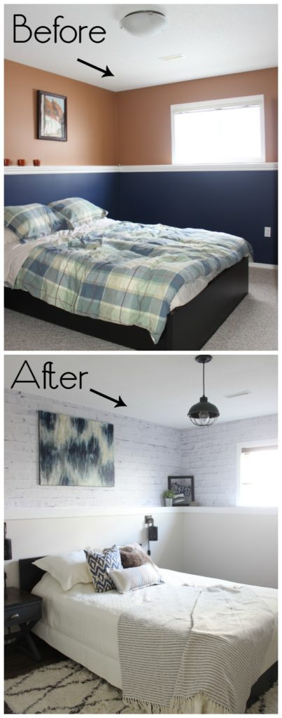 Before and After Guest Bedroom