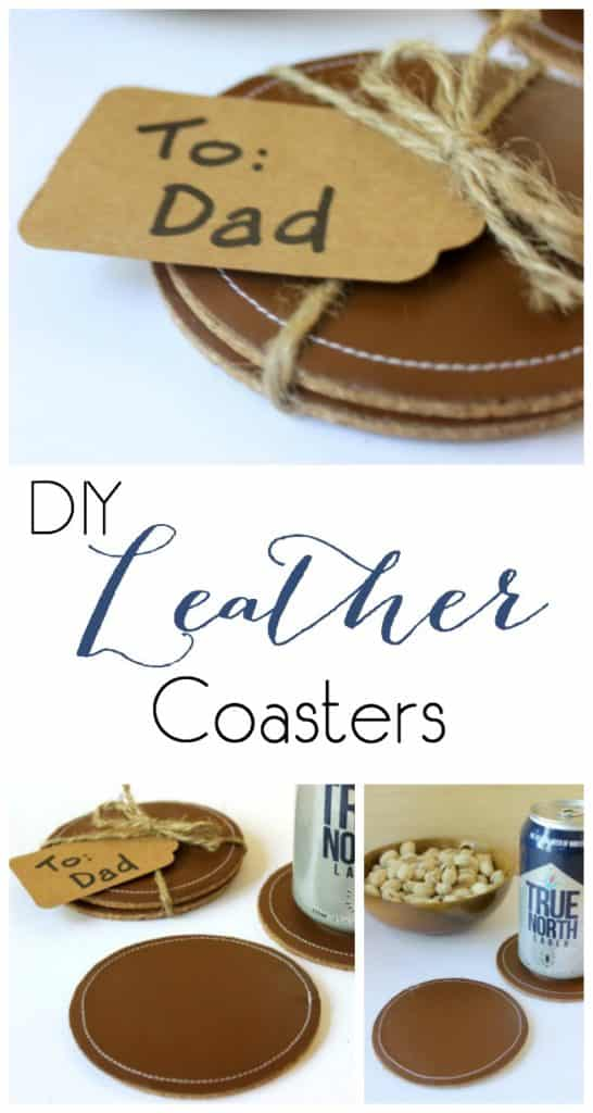 DIY Leather Coasters for dad