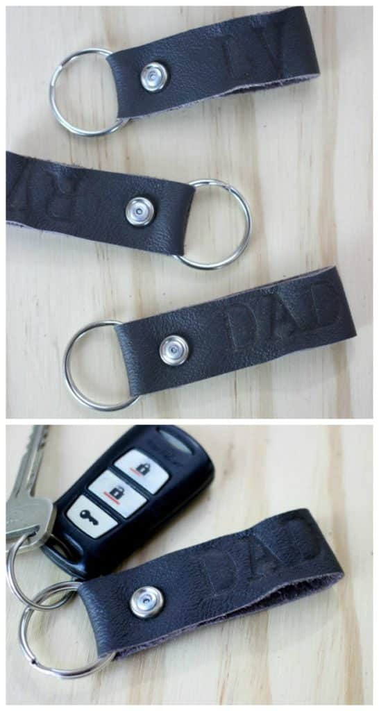 DIY Leather Keychains for Dad