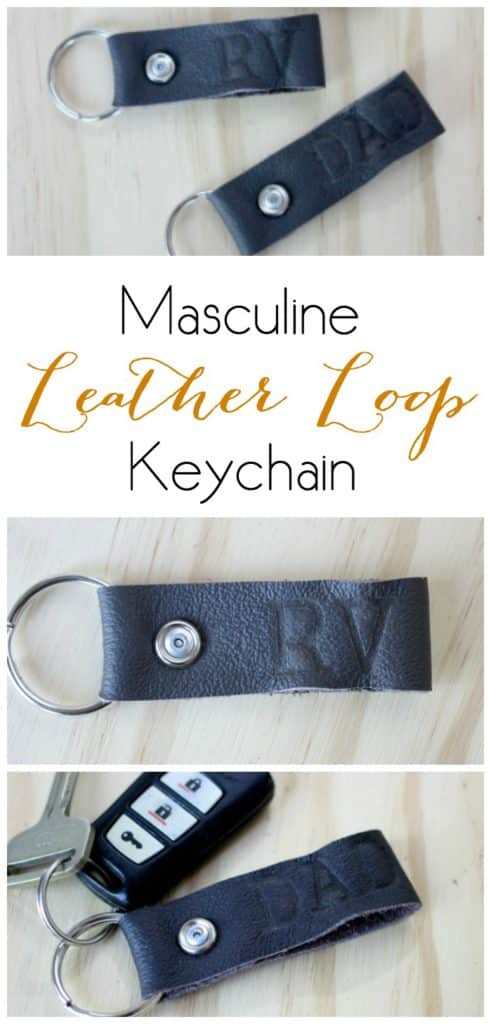 Masculine Leather Loop Keychain