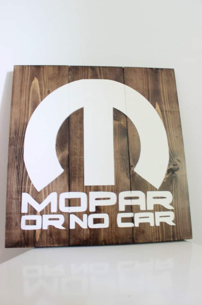 mopar sign for dadDIY Man Cave Decor