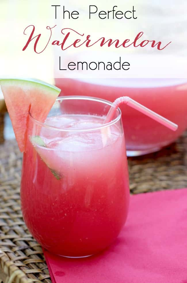 the perfect watermelon lemonade