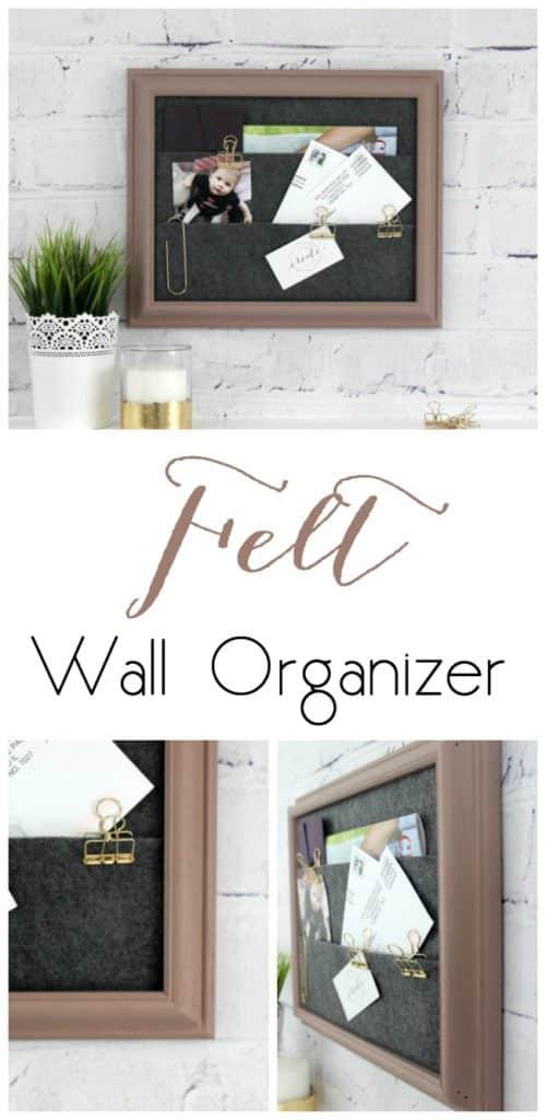 DIY Felt Wall Organizer