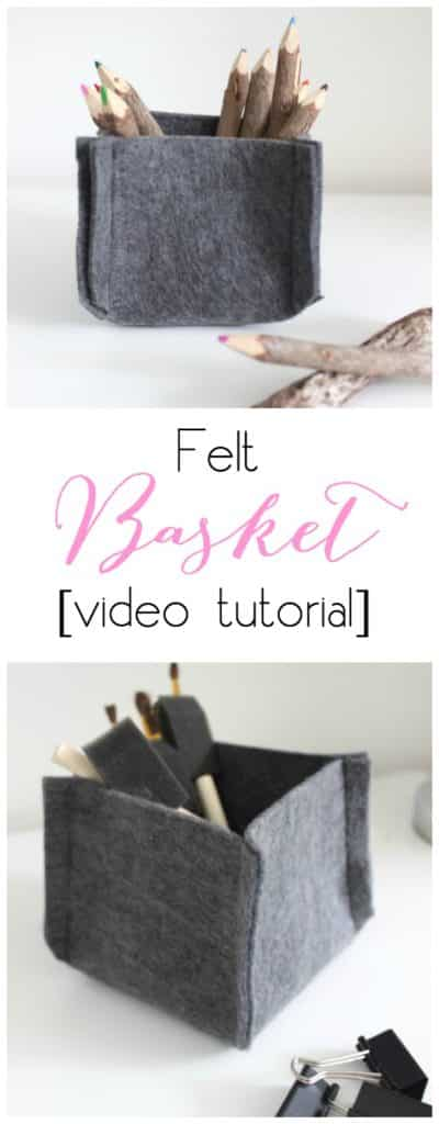 Enjoy this tutorial on how to create your own felt basket