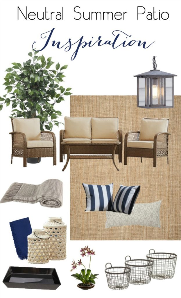Neutral Summer Patio Inspiration