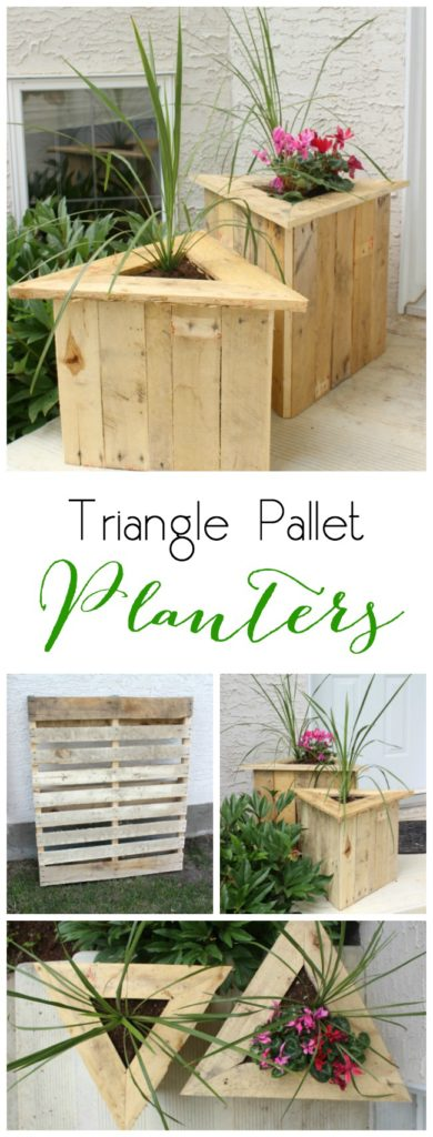 Build your own triangle pallet planters