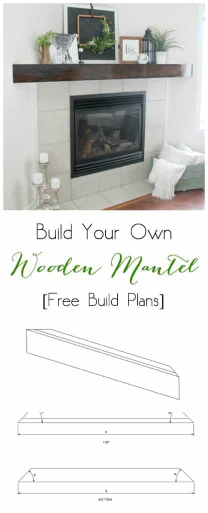 Use these free plans to make your own Wooden Mantel to spruce up your fireplace