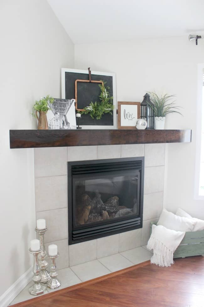 The easiest and cheapest fireplace makeover love create for Design your own fireplace
