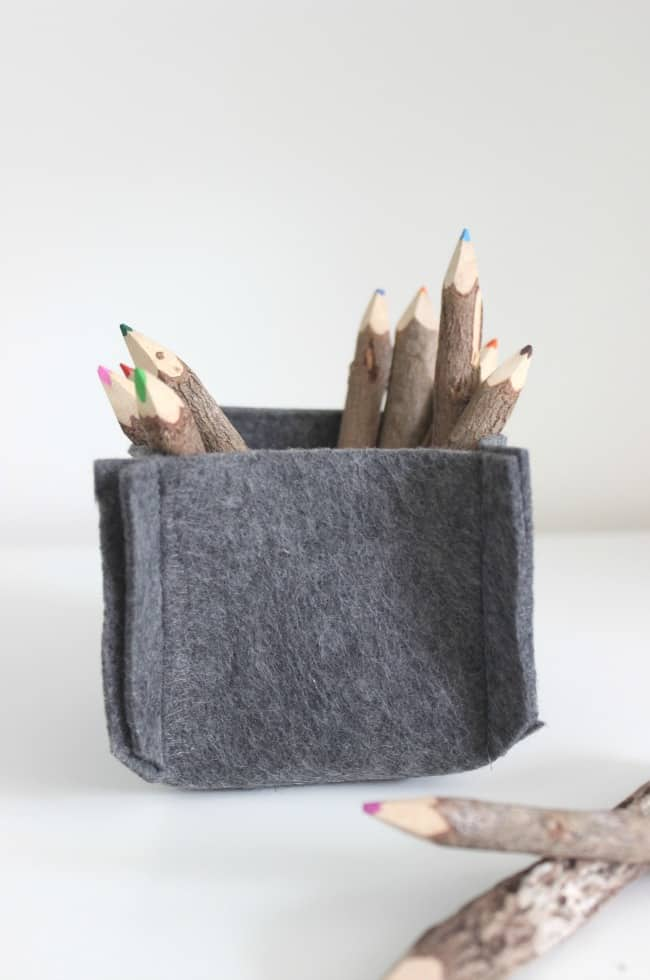 DIY Felt Baskets
