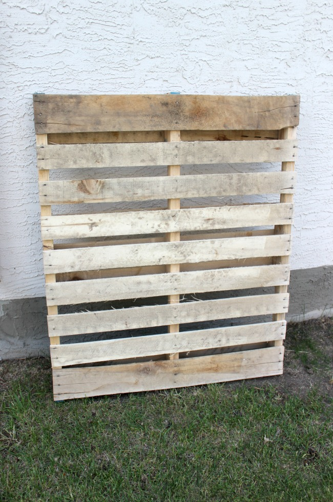 Start with an old pallet