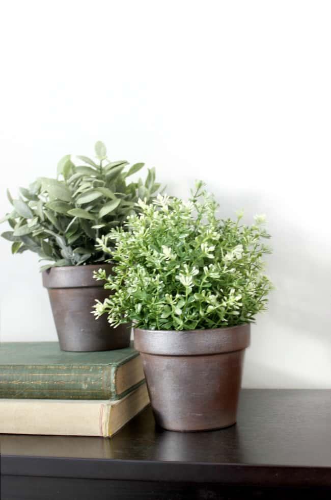 Faux Metal Industrial Flower Pots Love Create Celebrate
