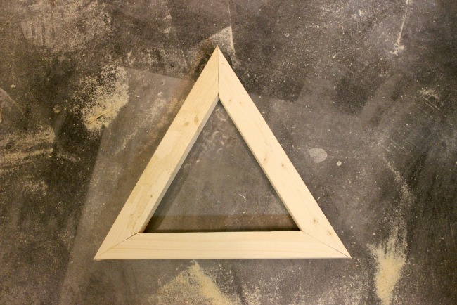 Cut the pieces into the triangle
