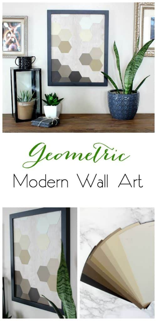 Great modern decor idea! Love the hexagons and the wood background. Great video tutorial!