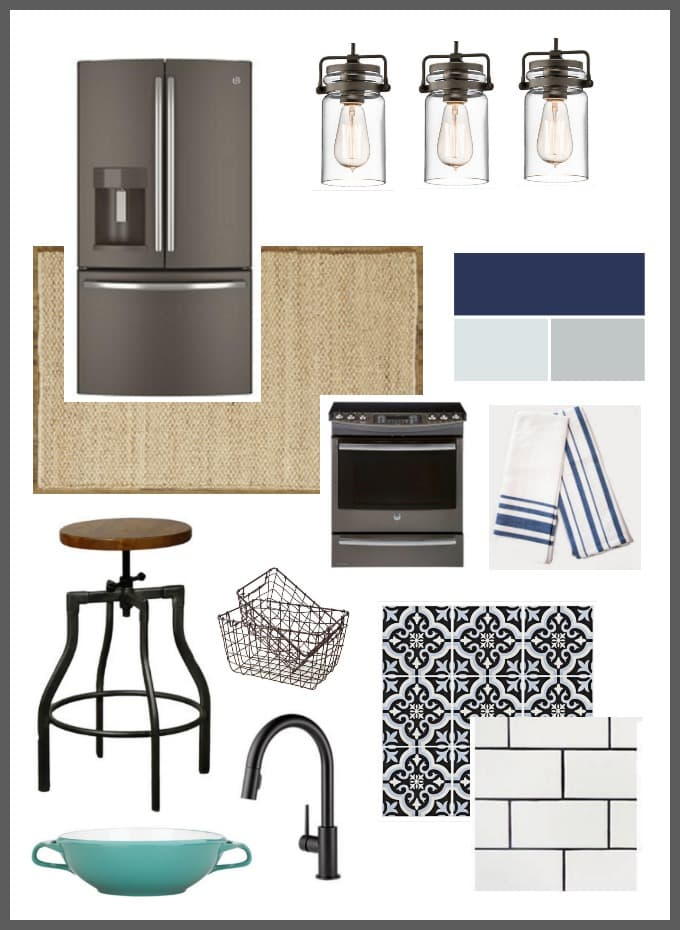 Modern Industrial Kitchen Mood Board Done