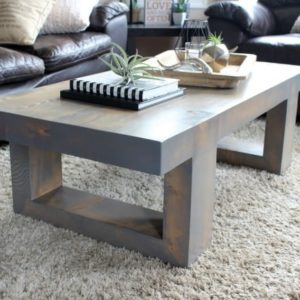 Build this beautiful Modern Coffee Table with the free build plans provided. What a beautiful addition to your living room!