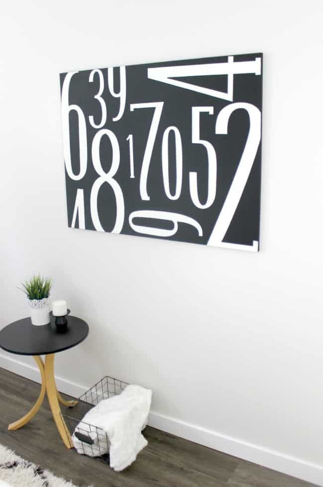 vertical vinyl canvas art