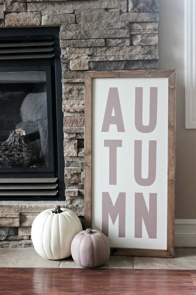 Personalized fall signs