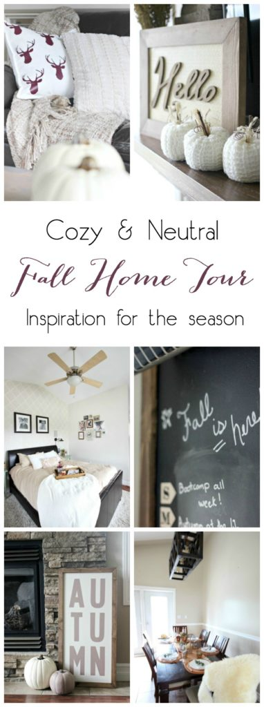 A beautiful cozy home tour for the autumn season. Love the warm and inviting home decor ideas for the season!