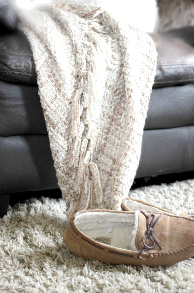 Blankets and slippers and shag carpets are the way to go for the fall season