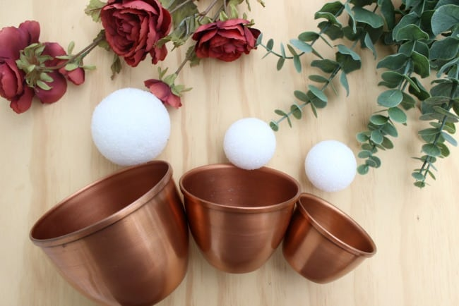 Here are the copper centerpiece materials.