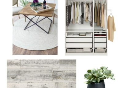 Beautiful inspiration and ideas for a modern industrial dream closet space!