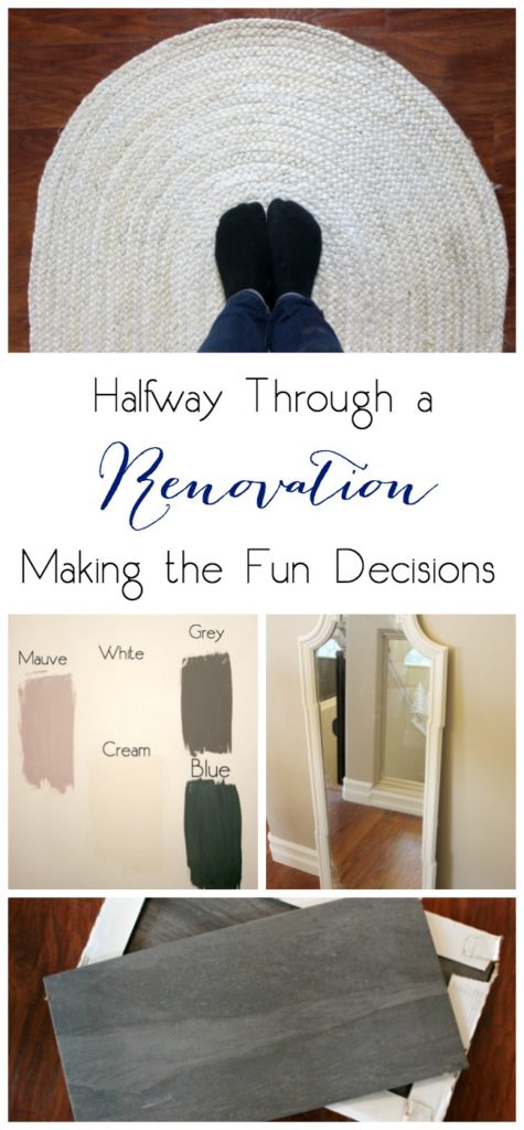 Halfway through the renovation is when you start making the fun decisions, like which tile to choose, which paint colour to choose, and with furniture to put in the space. Love these decision making tips!