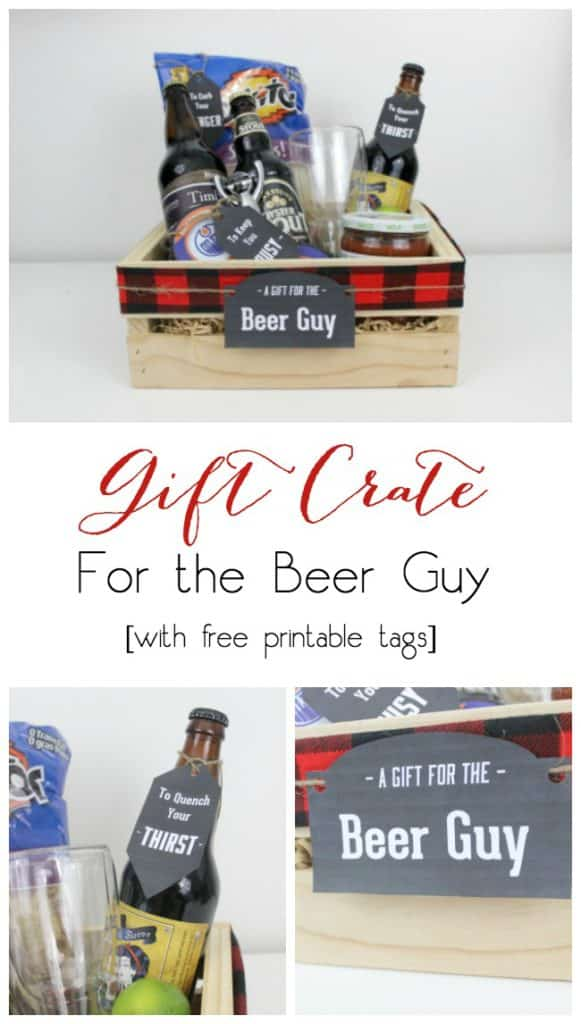 Perfect for the Beer Guy! Instead of gift baskets, why not opt for the more manly Gift Crate?! The perfect crate for any guy on your list, plus an amazing list of suggestions!