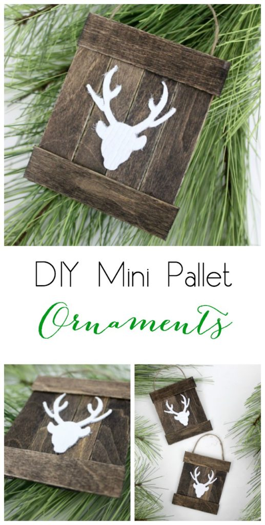 DIY rustic pallet ornament