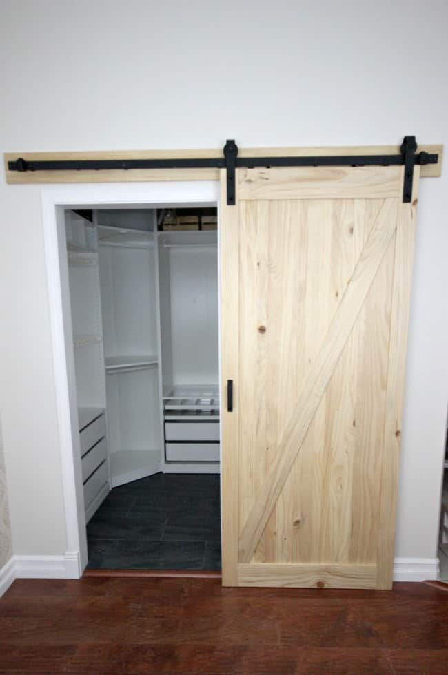 installing a sliding barn door in the home love create celebrate. Black Bedroom Furniture Sets. Home Design Ideas