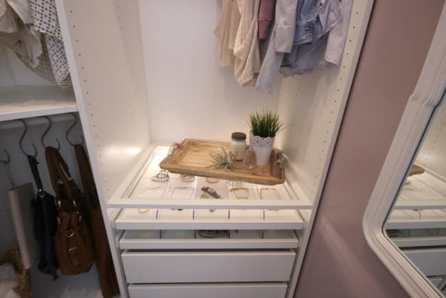 A beautiful dream closet makeover! I LOVE the organization ideas. Such a great use of a small space.