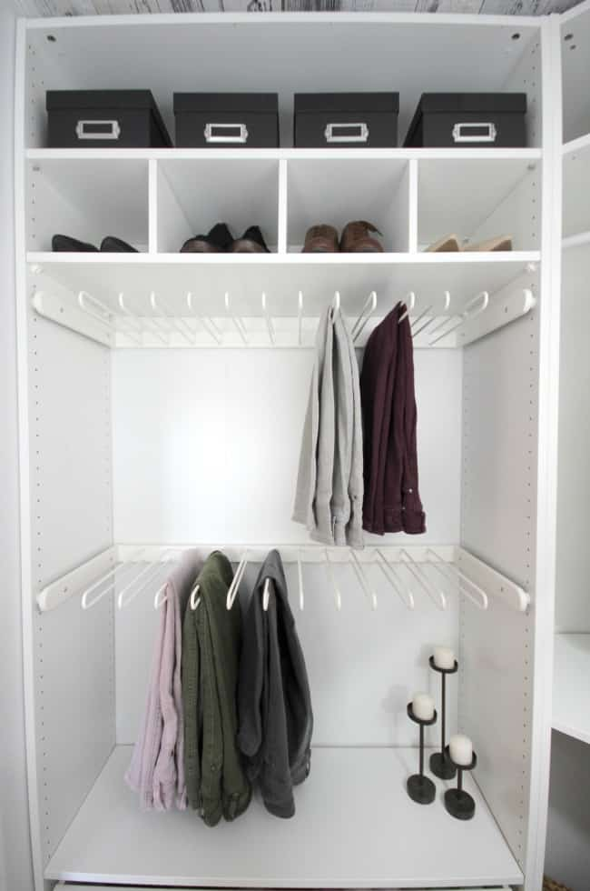 There is so much room in this newly renovated closet.