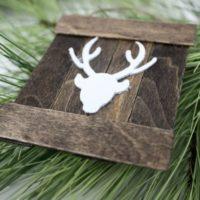 Mini Deer Pallet Ornament
