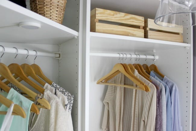 This small space was made to feel huge in this dream closet makeover.