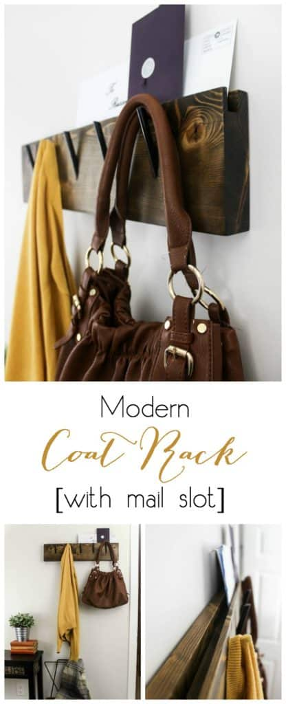 Make your own modern industrial coat rack using free build plans